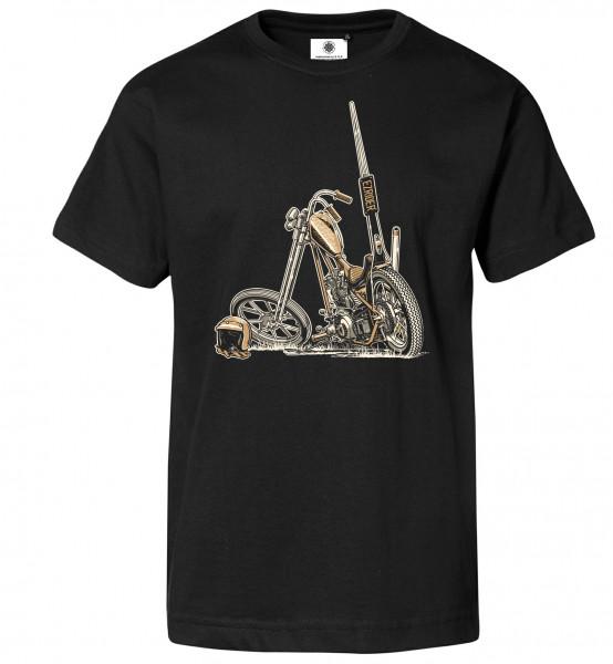 Bedrucktes Herren Biker T-Shirt Shovelhead Chopper