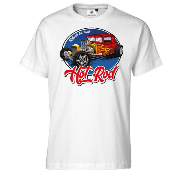 Bedrucktes Herren Hot Rod T-Shirt Unleash the Beast