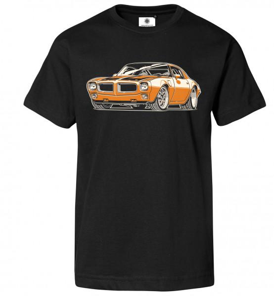 Bedrucktes Herren Muscle Car T-Shirt Pontiac Firebird