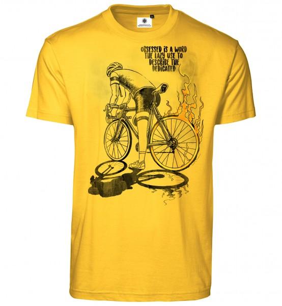 Bedrucktes Herren Fahrrad Rennsport T-Shirt Bike Spirit