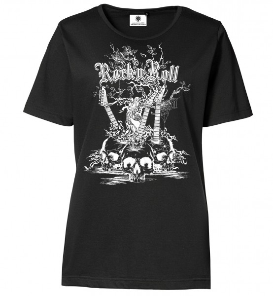Bedrucktes Damen Rocker T-Shirt Rock´n´Roll