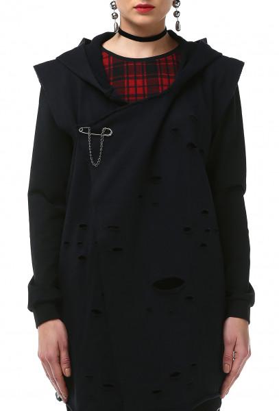 Ladies Rockupy Sleeveless Hooded Cardigan