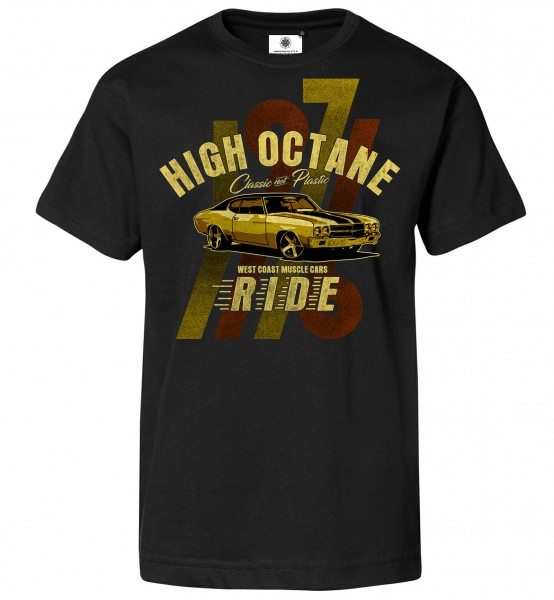 Bedrucktes Herren Muscle Car T-Shirt High Octane