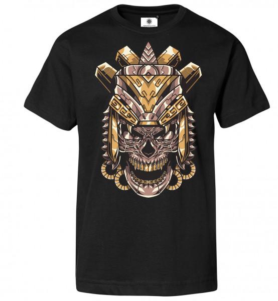 Bedrucktes Herren Rocker T-Shirt Aztec Skull