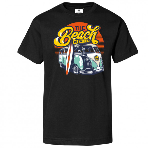 Bedrucktes Herren Bus T-Shirt The Beach is Calling