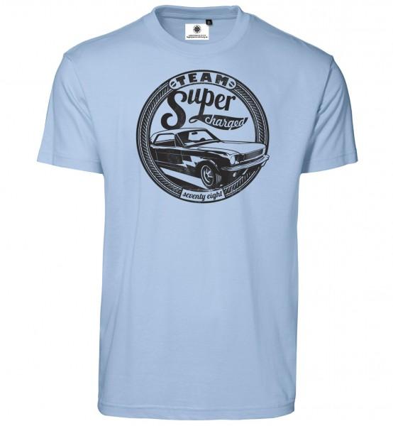 Bedrucktes Herren Muscle Car T-Shirt Team Super Charged