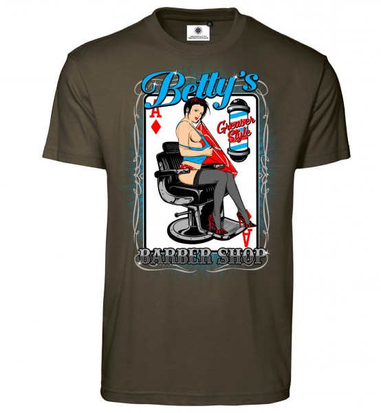 Bedrucktes Herren T-Shirt Betty´s Barber Shop