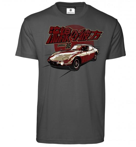 Bedrucktes Herren Sportwagen Oldtimer T-Shirt Toyota 2000 GT