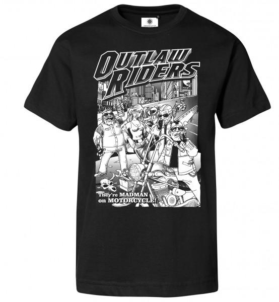 Bedrucktes Herren Biker T-Shirt Outlaw Riders