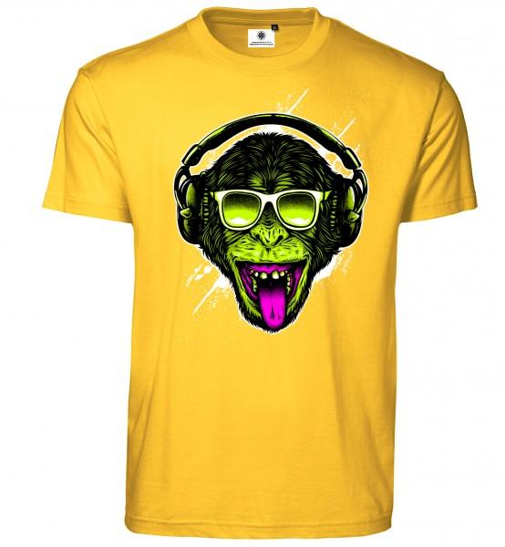 Bedrucktes Herren DJ Musik T-Shirt Funky Monkey