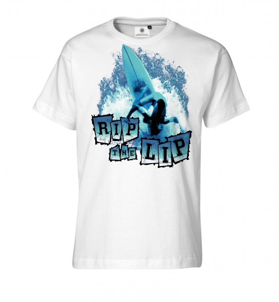 Bedrucktes Herren Surfer T-Shirt Rip the Lip