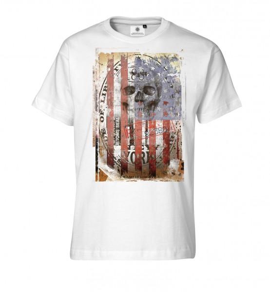 Bedrucktes Herren Streetwear T-Shirt Stars and Skulls