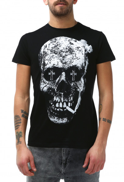 Rockupy T-Shirt Smoking Skull