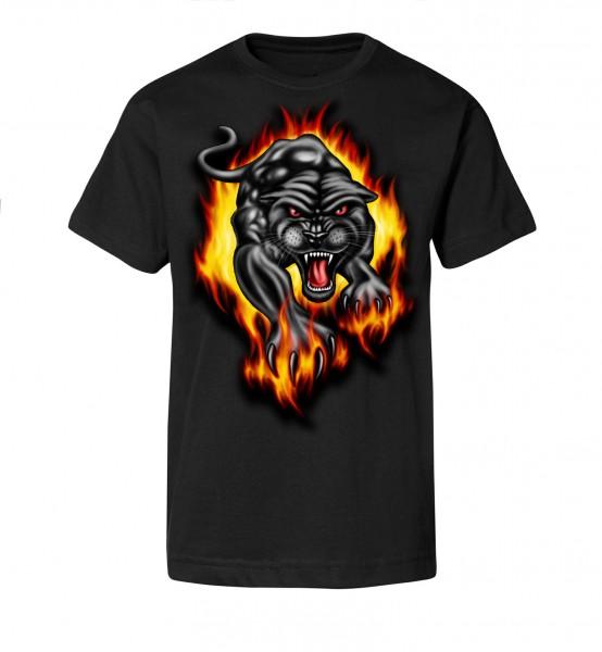 Bedrucktes Herren Streetwear T-Shirt Black Panther