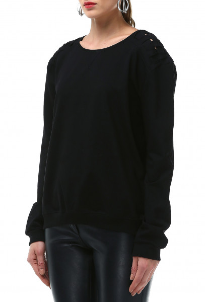Ladies Rockupy Long Sleeve Sweatshirt Black