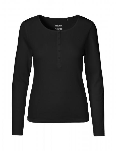 Neutral Ladies Granddad Longsleeve Shirt