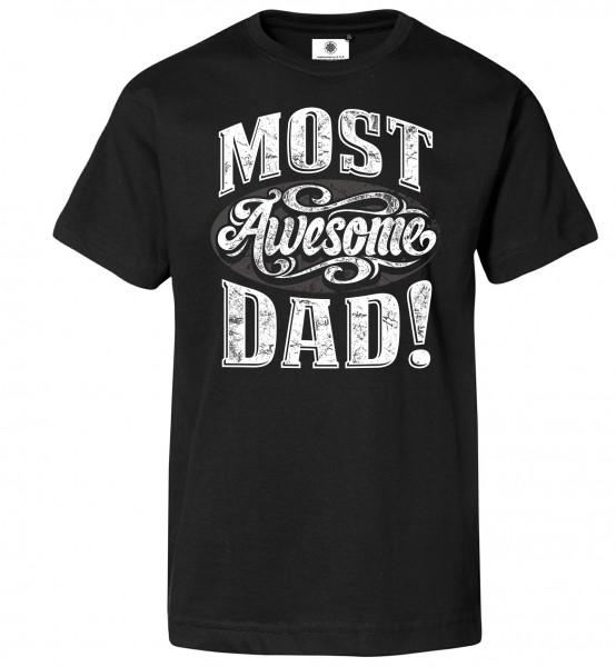 Bedrucktes Herren Vintage T-Shirt Most Awesome Dad