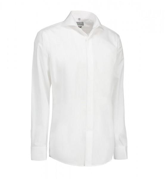Seven Seas Poplin | Tuxedo - Herrenhemd Slim Fit mit Doppelmanschette