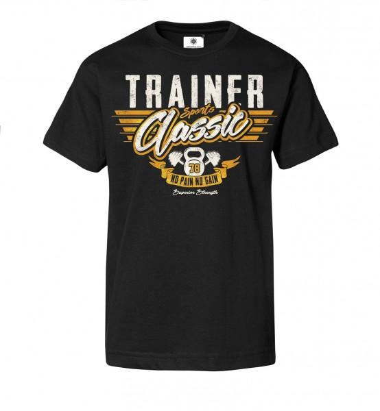Bedrucktes Herren T-Shirt Sports Classic Trainer