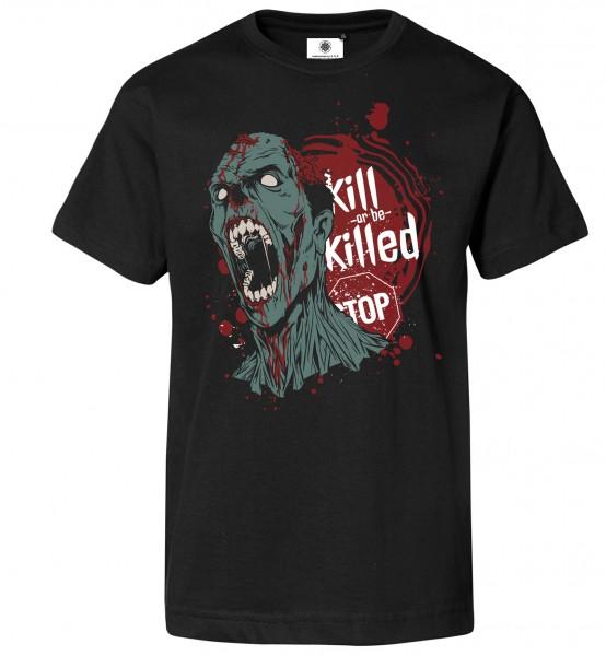 Bedrucktes Herren Zombie T-Shirt Kill or be Killed