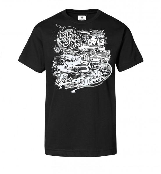 Bedrucktes Herren T-Shirt Custom Street Rods