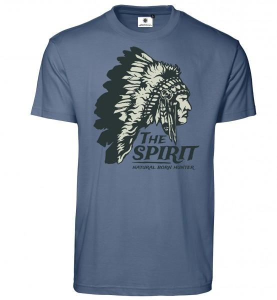 Bedrucktes Herren Indianer T-Shirt The Spirit