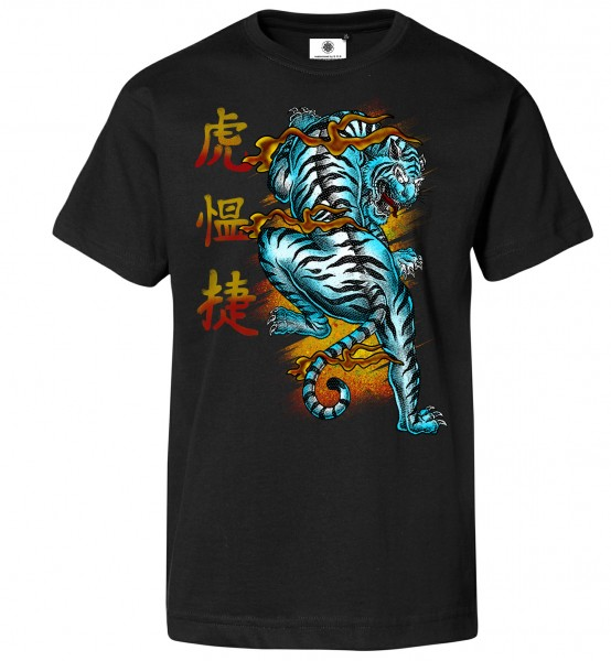 Bedrucktes Herren Urban Tattoo T-Shirt Japan Tiger