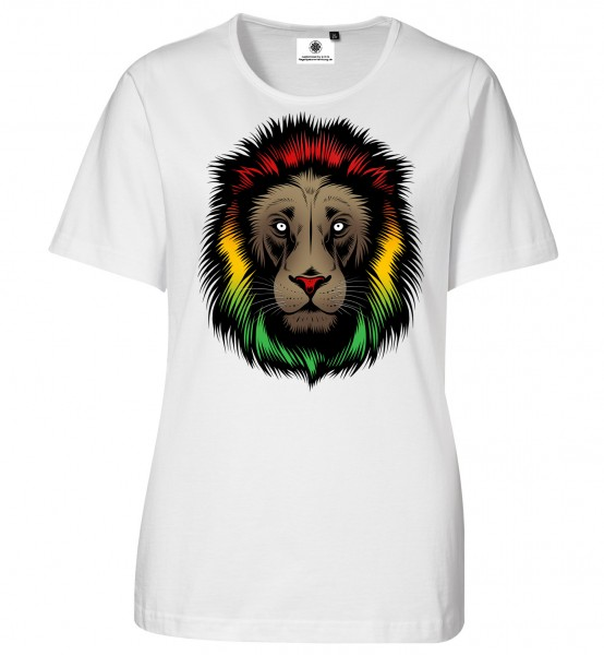 Bedrucktes Damen Rastafari Afrika T-Shirt Lion Head